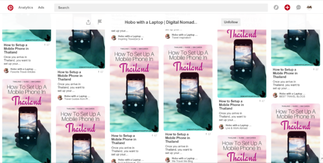 Repinning across multiple boards all at once in a row