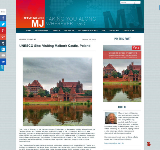 Sidebar Widget Mockup on Mary Jo